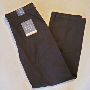 Croft & Barrow Pants Men Black 34 x 34 Relaxed New